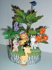 Jungle Safari Theme Baby Shower Topper Diaper Cakes Centerpiece Cold Porcelain 1