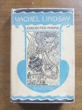 SIGNED - COLLECTED POEMS by Vachel Lindsay  - 1st HCDJ 1923 - poetry