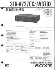 Sony Original Service Manual für STR-AV 270 X/370 X