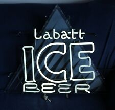 Labatt Ice Beer Neon Sign Works! Transfotec Man Cave Decor!