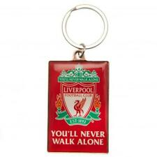 LIVERPOOL FC YNWA METAL KEYRING IN VELVET POUCH - OFFICIAL FOOTBALL GIFT