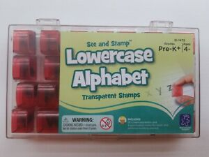 See and Stamp Lowercase Alphabet Transparent Rubber Stamp Letter Set