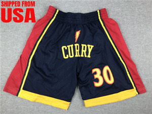 Golden State Warriors Shorts Stephen Curry Stitched NBA Pocket Basketball Shorts