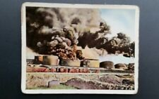 WWI German Cigarette Card Der Weltkrieg Mokri Superb #112 Fuel Tank Ablaze1916