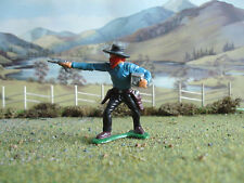 Vintage Marx Wild West bank robber 1:35 painted