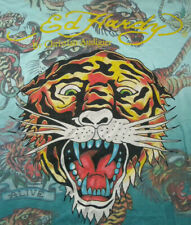ED HARDY by CHRISTIAN AUDIGIER King of the Wild T-Shirt (Size L) all-over tigers