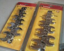 16 pc Great Neck SAE Metric Crow Foot Wrench Sets ( 2058 2059 ) ~ NEW SEALED
