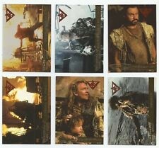 1995 Fleer Ultra Waterworld Movie set of 6 Double Foil chase insert cards