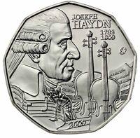Österreich 5 Euro 2009 Joseph Haydn Eurosternserie Handgehoben im Folder