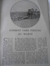 Comment faire fortune au Maroc 1919  coupure de presse