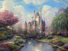 Disney Cinderella Castle Art Canvas HD Print Wall Decor Thomas Kinkade 31x41 cn