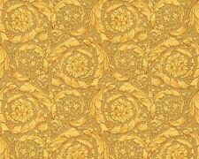 Versace Home Wallpaper 935833 Gold Ornament Metallic Satin Baroque Fleece