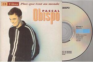 PASCAL OBISPO plus que tout au monde CD SINGLE
