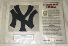 1978 NEW YORK YANKEES Willabee & Ward PATCH Cooperstown Collection BASEBALL