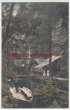 (90931) AK Sächs. Schweiz, Obere Schleuse, Bootsstation, vor 1945