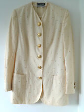 Vintage Gianni Versace Couture cream jacket - Size Italy 40 (UK 10)
