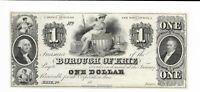 $1 Borough of Erie Pennsylvania  18XX maid shield remainder