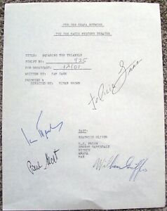 CBS RADIO MYSTERY THEATER PLAY SCRIPT COVER PAGE AUTOGRAPH BY FELICIA FARR + 3