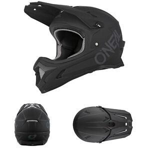 2021 O'Neal Sonus Solid Matt Schwarz Fahrrad Helm MTB BMX Downhill Bike DH Trail