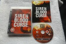 SIREN BLOOD CURSE PS3 V.G.C. FAST POST ( action/stealth & survival horror )