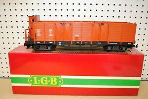 LGB 4062 OBB Four-Door High-Sided Gondola Car w/Brakeman's Compartment *G-Scale