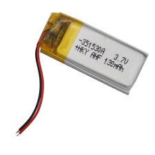 3.7V 130mAh Polymer Li battery Li po 351530 For Camera headset pen mp3 Toys DIY