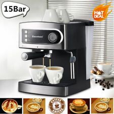 Espresso Coffee Machine Maker Latte Cappuccino 2-Cup 15-Bar Pump Italian Style A