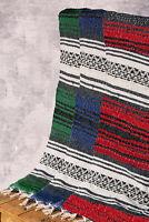 BASE YOGA Mexican style falsa yoga blanket - meditation / yoga / boho throw