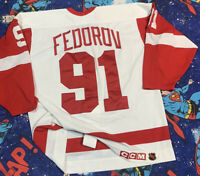 CCM Center Ice Authentic Detroit Red Wings Sergei Fedorov NHL Jersey Men's SZ 48