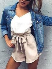UK Womens Denim Jeans Jacket Ladies Pocket Casual Coat Outwear Tops Size 8-16