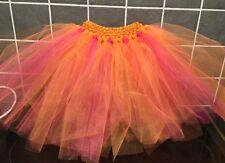 Le Ragazze Gonna Tutu Balletto Danza Rosa E Arancione Età 1 - 10 anni nuovo fatto a mano