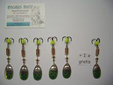 Original Mepps Spinner Aglia Brite Gr.3 silber/gelb 5+1gratis ( 6 Stück )