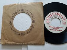 "MARION WORTH - There'll Always Be Sadness 1961 PROMO Columbia Pop 7"" RARE"