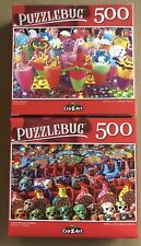 """Puzzlebug Jigsaw Lot of 2 Puzzles 500 pieces NEW 18.25"""" X 11"""""""