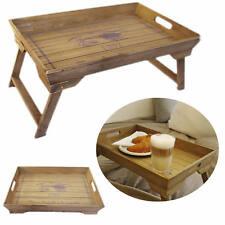 Design Holz Beistelltisch Tablett Servier Tisch Stand Tray Klappbar Shabby WEISS