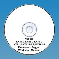 Kubota KX41-2 KX61-2 KX71-2 KX91-2 KX121-2 & KX161-2Excavator - Workshop Manual.