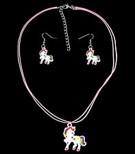 Unicorn necklace and earrings set    B12