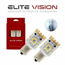 Elite Vision 1156 LED Turn Signal Light Bulbs White Kit for Porsche 3000K 2600LM