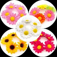 FLOWER HAIR SCRUNCHIE BOBBLE ELASTIC HAIR BAND GIRLS/WOMENS BUN GARLAND HAIRBAND
