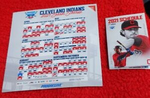 2021 Cleveland Indians OFFICIAL MAGNETIC SCHEDULE PLUS 1 Pocket Schedule