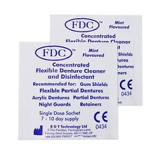 FDC Sample 2 Sachets ~ 2 Week Cleaning Partial Valplast Flexible Denture Cleaner