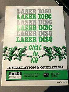 Stern Laser Disc Goal to Go Installation and Operation Manual and Schematics
