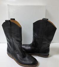 Maison Martin Margiela Distressed Black Leather Western Boots NEW Sz 37.5 $995