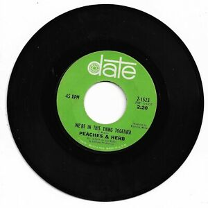 PEACHES & HERB - WE'RE IN THIS THING TOGETHER - DATE - VG++/EX. CONDITION