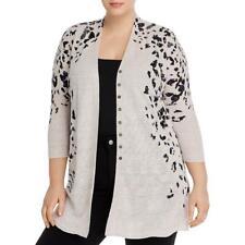 Nic + Zoe Womens Pink Linen Layering Cardigan Top Shirt Plus 1X BHFO 9475