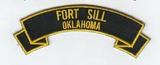 "Fort Sill Oklahoma 4"" rocker tab embroidered patch"