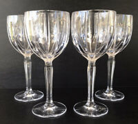 """Waterford Marquis Omega Wine Goblets Glasses 8 1/2"""" Set of 4"""