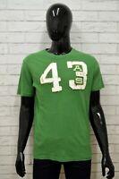 Maglia ARTIFICIAL & SMITH Uomo taglia L Maglietta Shirt Man Cotone Manica Corta