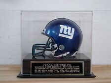 Football Mini Helmet Display Case With A Frank Gifford New York Giants Nameplate
