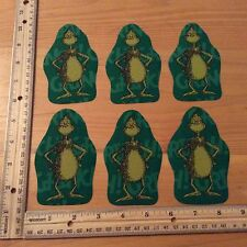 Style#3. The Grinch Who Stole Christmas Fabric Iron On Appliques - Christmas